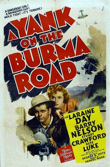 Movie poster Yank on the Burma Road.